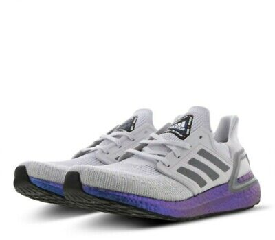 Adidas Ultraboost 20 NASA 'Space Race' (White/Grey/Violet) - UK size 8, EU 41.5
