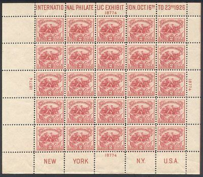 U.S. #630 Mint NH BEAUTY - 1926 2c White Plains Sheet