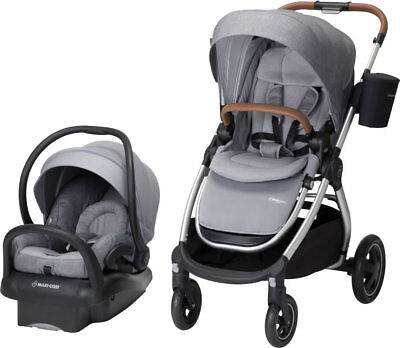 Maxi Cosi Adorra Travel System Nomad Grey Stroller & Mico MAX 30 Car Seat New
