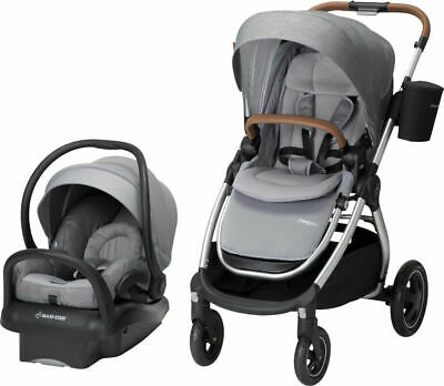 Maxi Cosi Adorra Travel System Nomad Grey Stroller & Mico MAX 30 Car Seat New