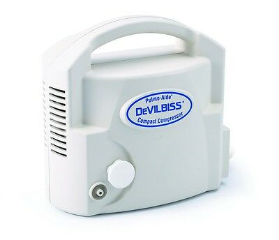 New Devilbiss Pulmo-aide Compact Compressor Nebulizer System With Nebulizer Kit
