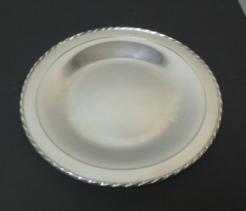 """TOWLE MID-CENTURY """"SILVER FLUTES"""" STERLING SILVER 10"""" PLATTER / TRAY, 270 gramsN"""