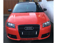 Audi a3 8p s line black edition complete front end s line bumper with headlight washer jets