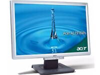 ACER AL1916WAS widescreen lcd display screen VGA as new condition with cable leads etc cheap £37