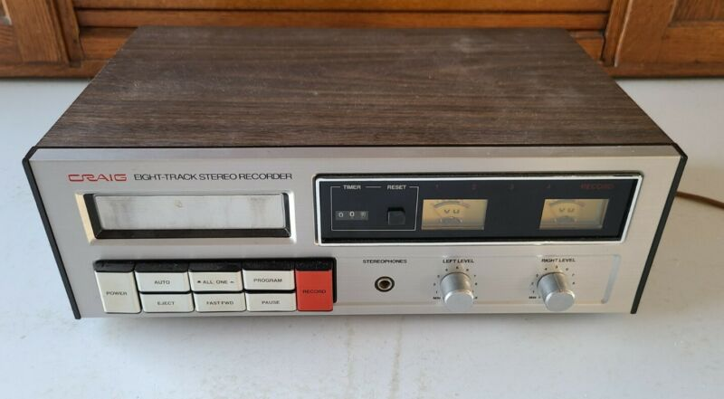 Vintage CRAIG 8-Track Stereo Recorder Model H260 Great Condition Untested