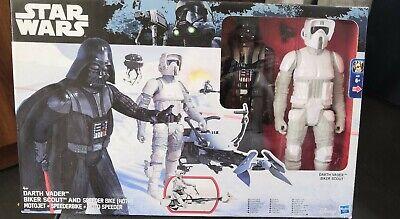 """Star Wars 12"""" Figure Set*Darth Vader/Biker Scout & Speeder Bike*New"""