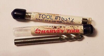 2 Qty Harvey Tool 90 Chamfer Milldrill .187 Dia 4 Flute 15312