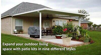 Aluminum Patio Cover Kit .032 Flat Pan 12 X 20 Diy Kit Complete