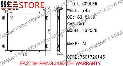 183-8115 1838115 Oil Cooler For Caterpillar Cat E320c 320cu E320cl Excavator New