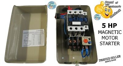 Magnetic Motor Starter Control 5 Hp Single Phase 220240v 24-34a Onoff Switch