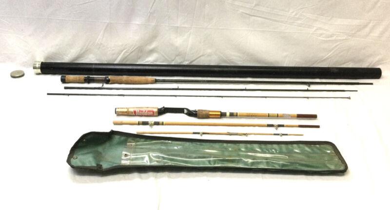 Vintage Diamondback Fly Rod Graphite 3 Pc 10ft log & Heddon Mark 70 Rod 6