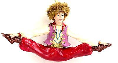 Nutcracker Ballet Russian Dancer 6 inch Resin Christmas Ornament NEW