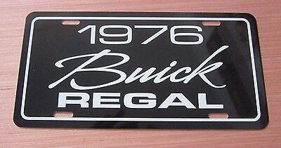1976 Buick REGAL Aluminum metal license plate tag 76