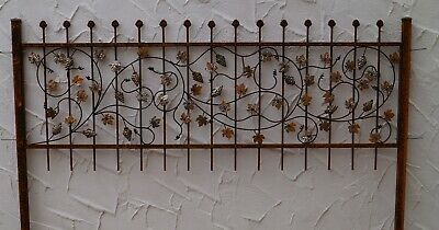 Wrought Iron Fence Iron Metal Climbing Fencing Bachus-Z100/200 Raw Quality Rust