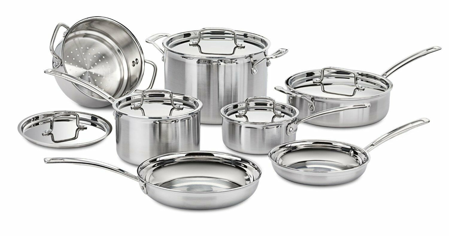 4CA0575 - Cuisinart MultiClad Pro Triple Ply Stainless 12-Pi