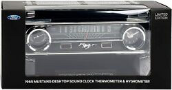 1965 FORD Mustang Car LIMITED EDITION Clock Thermometer w/Sound Desktop DASH