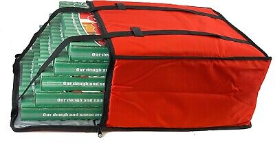 Pizza Delivery Bags - Holds Five 20 Pizzas Red Reusable Grocery Insulated