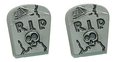 Spooky Halloween Clips (SPOOKY HALLOWEEN TOMBSTONE STUD or CLIP ON EARRINGS)