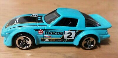 Mazda RX-7 #193 * Teal KMART Only * 2015 Hot Wheels * loose wheel swapped  jdm