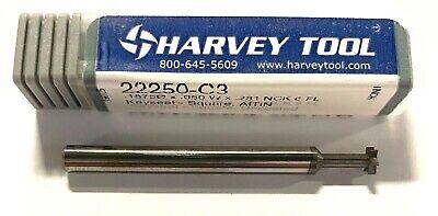 Harvey Tool 316 Solid Carbide Keyseat Cutter Altin Coated 6 Flute Usa Made