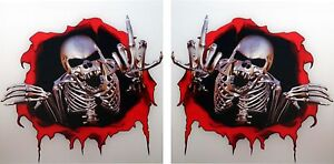 2x-skull-sticker-Middle-Finger-Motorcycle-Tank-bumper35