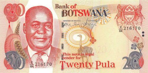Botswana  20  Pula  2004  P 27a  Series  E/64   Uncirculated Banknote Af25