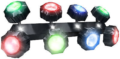 KAM Infinity Beam Effect Disco Effect 8 x 9w LED RGB multi-colour tri-LED Heads