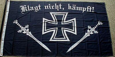 KLAGT NICHT, KÄMPFT ! DR Eisernes Kreuz  90 x 150 cm Fahne Flagge  Reichsflagge