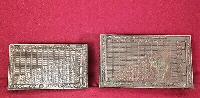 Antique Copper Print Blocks - Pilot Valve Pressure Tables Steam R. Conrader