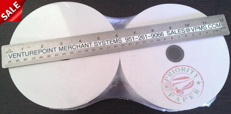 GENMEGA ATM THERMAL RECEIPT PAPER - 24 NEW ROLLS  **FREE SHIPPING**