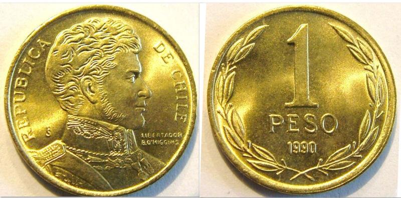 Chile 1990 1 Peso Uncirculated (KM216.2)