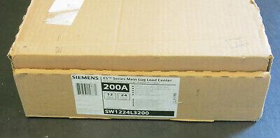 Siemens Es 200a Load Center Circuit Breaker Panel Box New Sw1224l3200