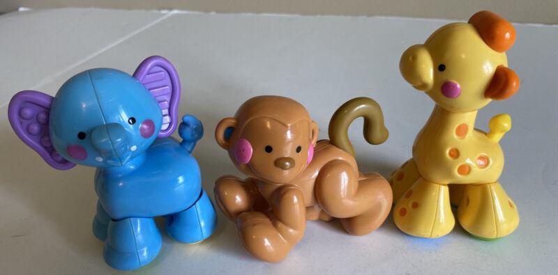 Fisher price Amazing Animals Choo-Choo Train Replacement Monkey Giraffe Elephant