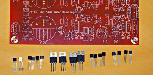Borbely All FET low-noise super shunt regulator partial kit !