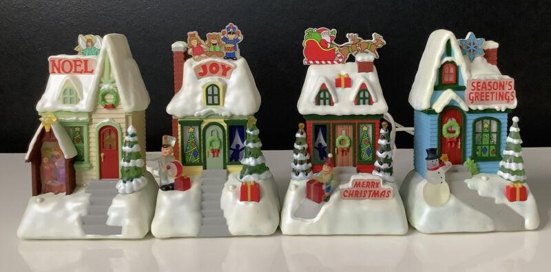 Hallmark 2009 Caroling Cottages Houses Lights & Music