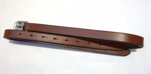 "54"" 60"" Adult Size Simple English Stirrup Leathers Dark Brown & Tan/Chestnut"