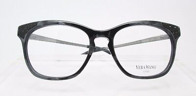 Vera Wang Soraya Black 52-17 Eyeglass Optical Frames Glasses Womens New