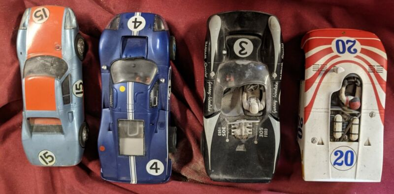 Porsche Lola Ford   1/32 SLOT Car Fly Monogram MRRC C 4 car lot