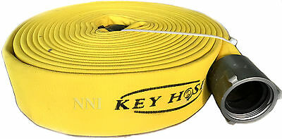 2-12 Nst X 50 Polyester Double Jacket Attack Fire Hose 800psi Test Yellow