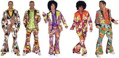 Disco Anzug Kostüm Herren 70er 80er Jahre Hippie Party Discoanzug Discokostüm