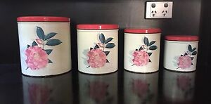 """Vintage """"Willow Camellia"""" Canisters Fremantle Fremantle Area Preview"""
