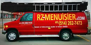 """"""" Menuisier Ouvrier, réparation rénovation,mtl 514-262-7473"""