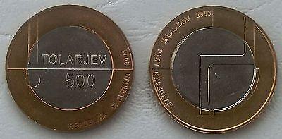 Slowenien / Slovenia 500 Tolarjev 2003 p50 unz.