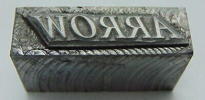 Vintage Printing Letterpress Printers Block Arrow All Metal