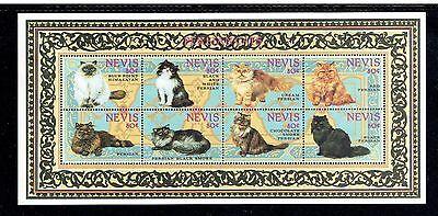 NEVIS 852 (SHEET OF 8) & 853-54 (S/S), 1994 CATS, MNH (ID6534)