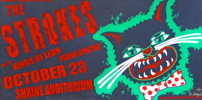 The Strokes Concert Poster 2003 S/N by Michael Michael Motorcycle