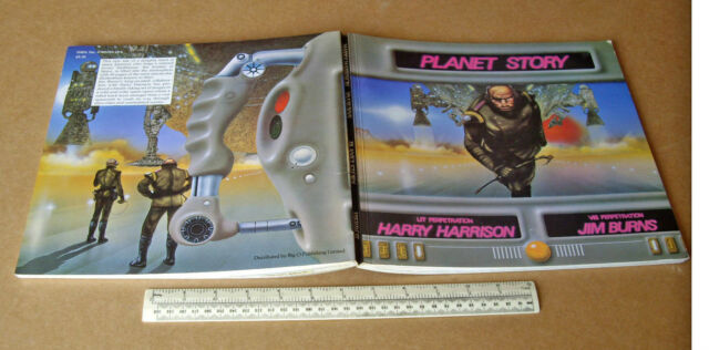 Planet Story Harry Harrison Jim Burns SF Book & Magazine Colour Art  Superb