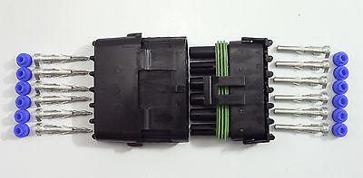 PER-049-12 Weather Pack Connector 6 Pin Kit 12 Gauge Weathertight Sealed Seal