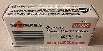 "Staples 10,000 NEW  Galvanized 22 Gauge 3/8"" crown x 1/4"" long Upholstery"