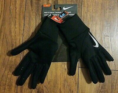 NWT NIKE Black Element Thermal Fleece Running Gloves Size S Small Element Kids Glove